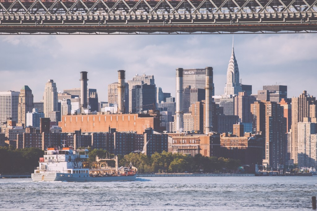 Manhattan Skyline with MetLife Tower from Williamsburg
