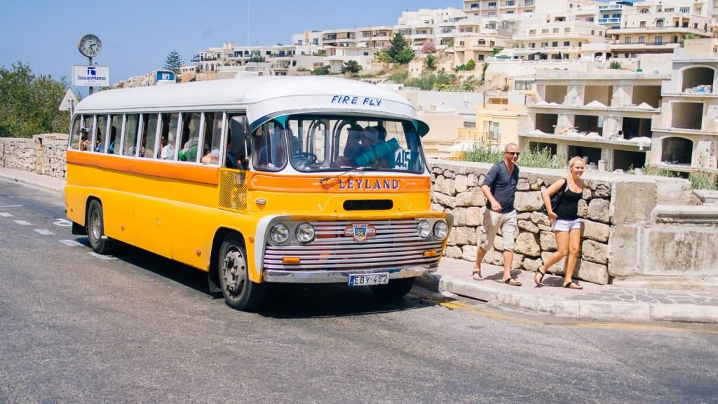 British Leyland Bus in Malta
